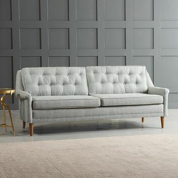 Rockford Gray Button Tufted Sofa