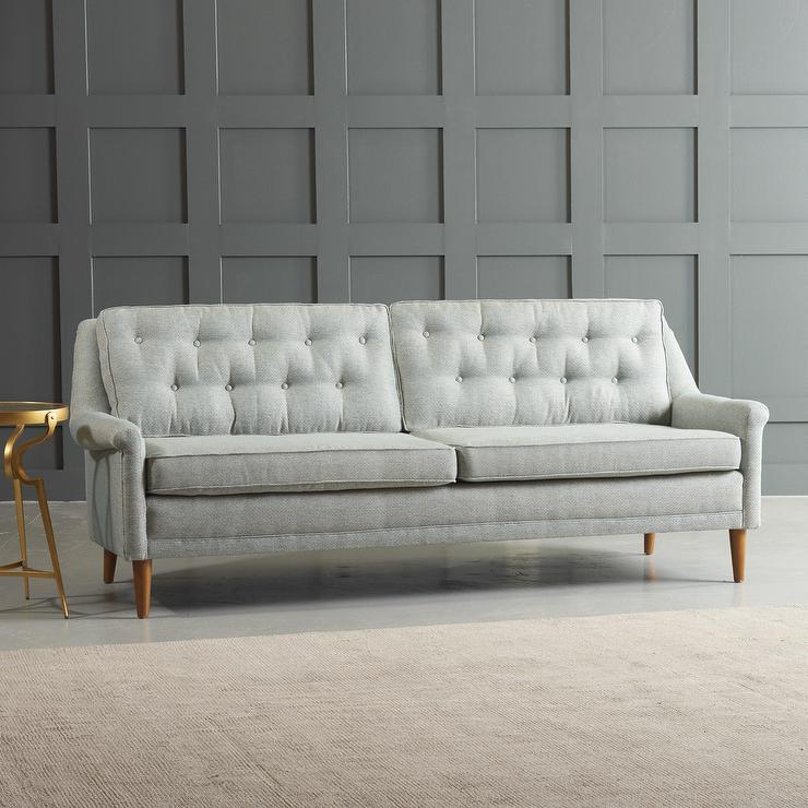 rockford gray button tufted sofa - Grey Tufted Sofa