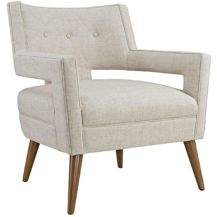 Sheer Ivory Button Tufted Armchair