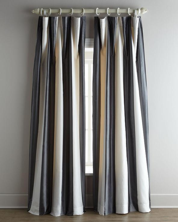 Home Silks Hampton Black White Curtains