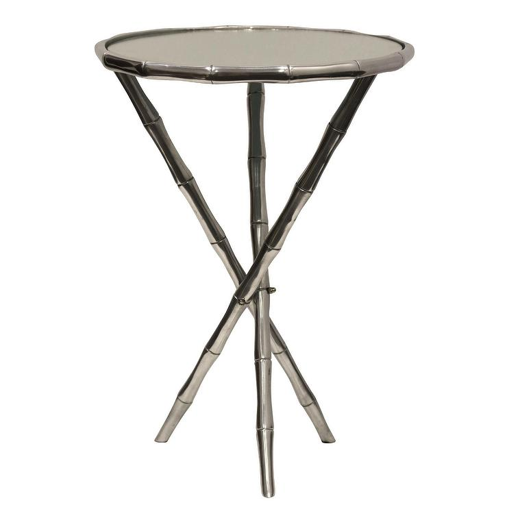 Harborside Round SIlver Bamboo End Table