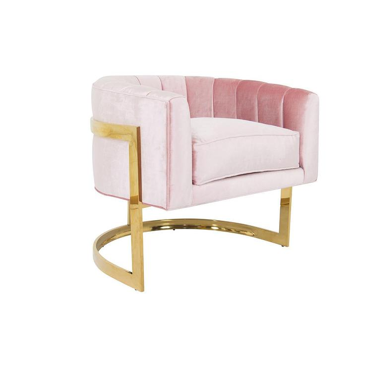 Bacharach Blush Swivel Barrel Chair