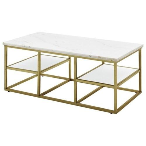 Isabelle Marble Brass Coffee Table