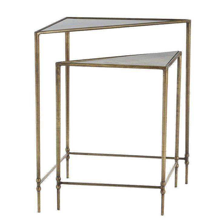 Cubed Silver Glass Nest Of Tables