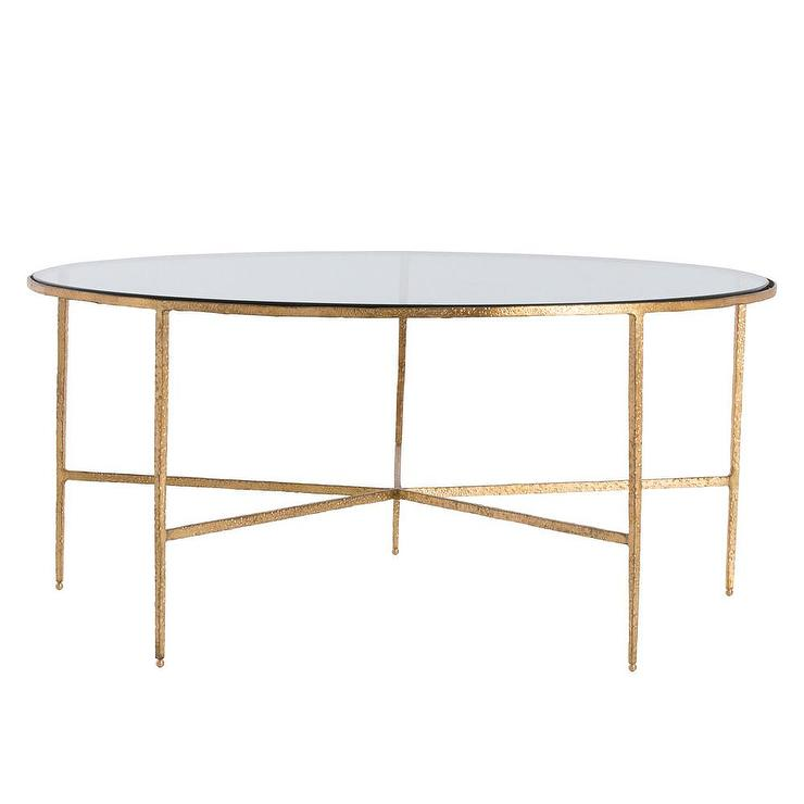 Hammered Coffee Table Tray: Rotonde Silver Hammered Metal Industrial Round Coffee Table