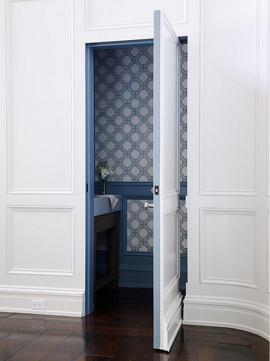 Powder Room Jib Door & Powder Room Jib Door - Transitional - Bathroom