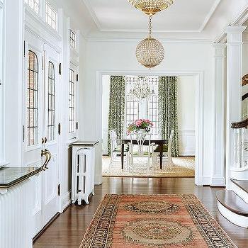 Amie Corley Interiors  Brown and Orange Persian Rug