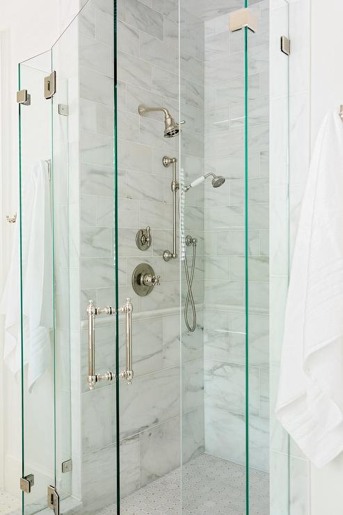 Walk In Shower And Tub Combo Transitional Bathroom