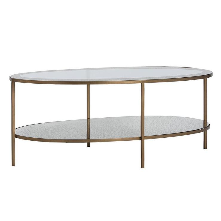 charlotte brass oval coffee table