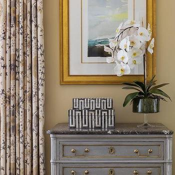 Gray Dresser With Black Marble Top