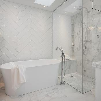 Marble Porcelain Shower Wall Tiles Design Ideas