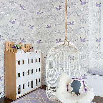 Purple Trellis Girl Bedroom Rug Design Ideas