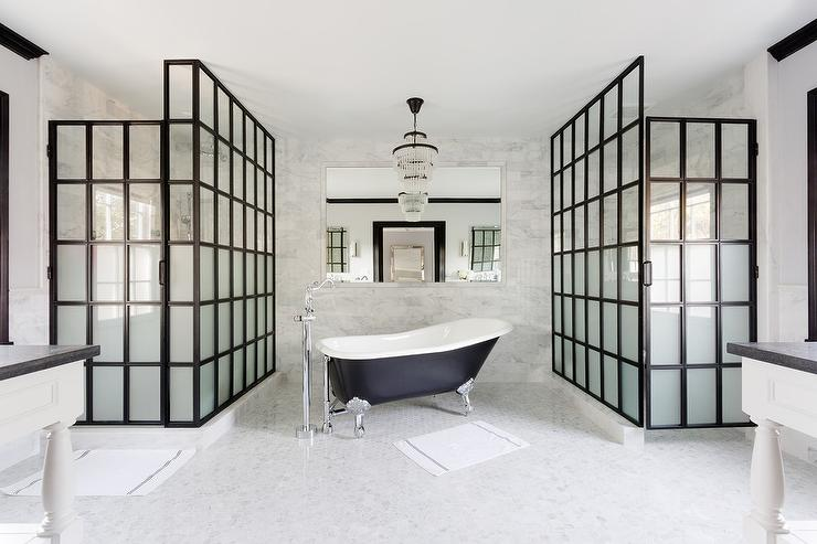 Frosted Glass Showers - Transitional - Bathroom
