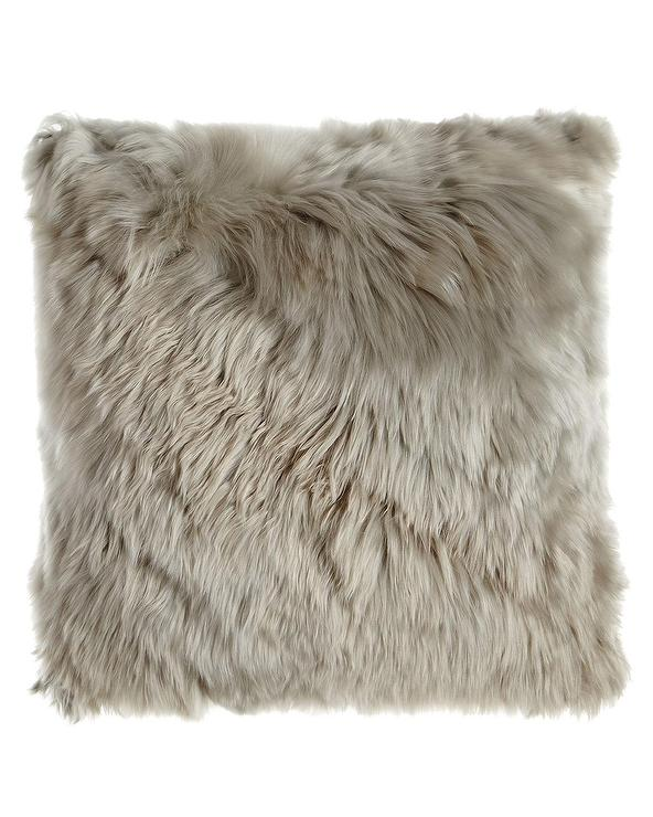Woven Leather Hide Pillow Cover Williams Sonoma