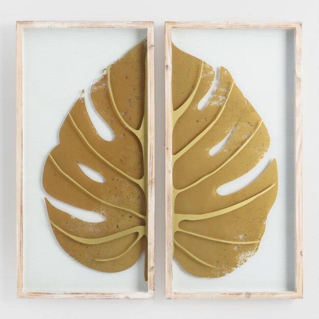 Framed Leaf Wall Art