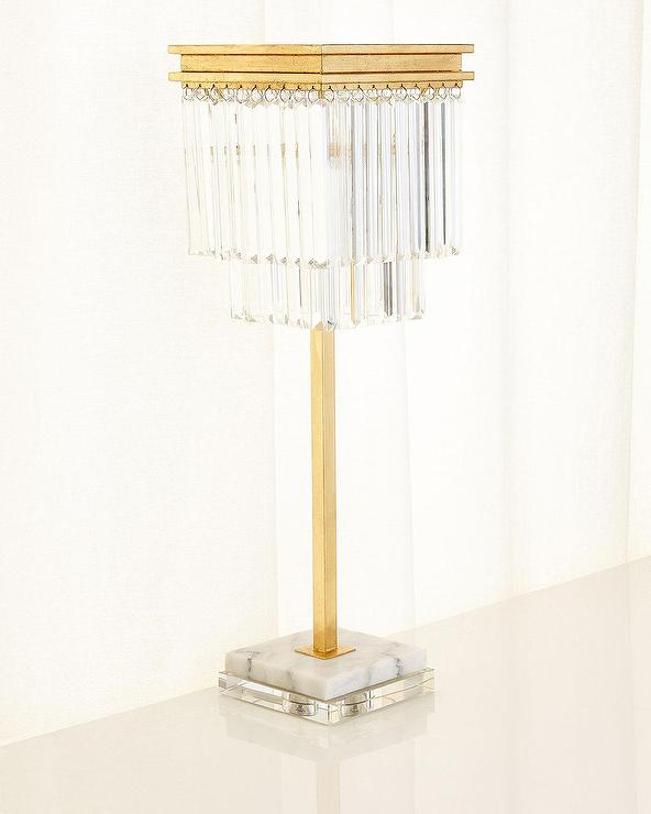 Hillsborough Gold Crystals Buffet Lamp