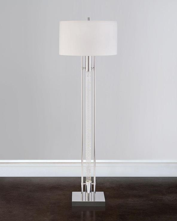 Clear Acrylic Column Floor Lamp