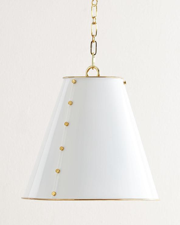 Gold Tapered Metal Pendant Light