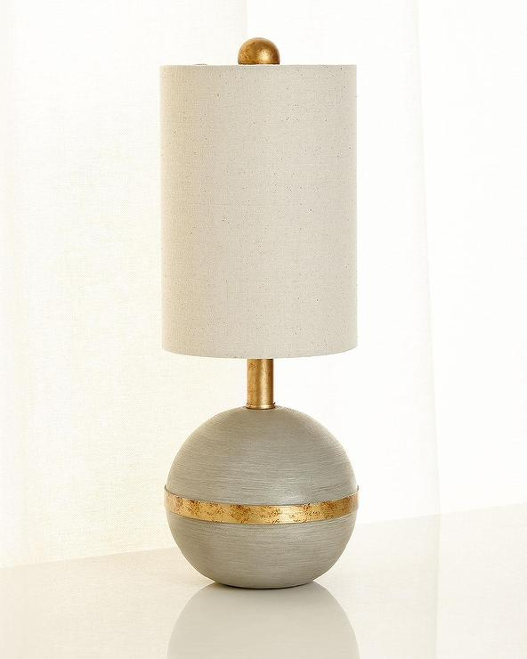 Modern Gold Cut Out Lamp Base