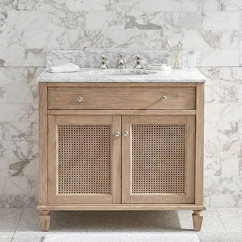 White Classic Single Sink Console
