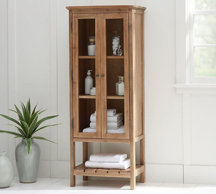 tall rustic wood linen closet - Tall Linen Cabinet