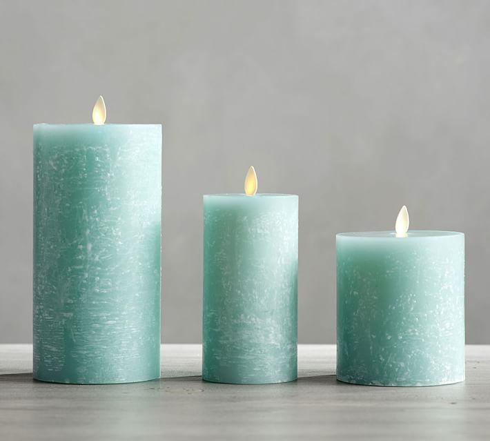 Premium Flickering Flameless Wax Textured Candle