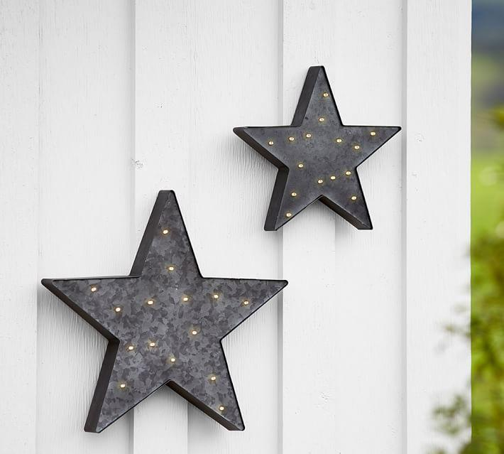 Lit 4th Of July Star Wall Decor