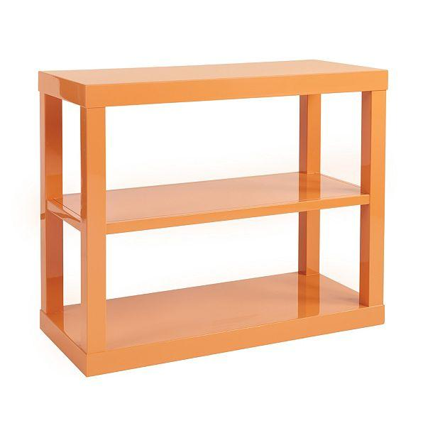 Suzanne Kasler Parsons Orange Bookshelf - Glossy Orange Bookshelf - Products, Bookmarks, Design, Inspiration