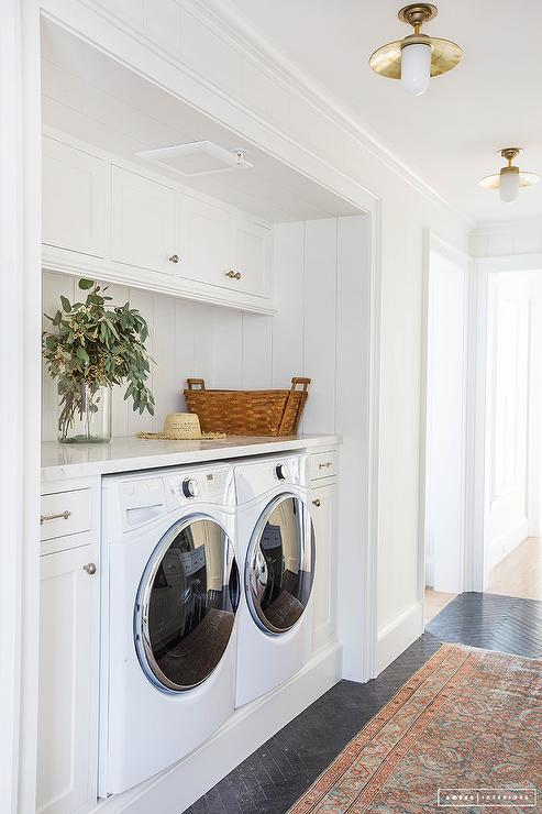Laundry Room Nook With Washer And Dryer Cottage