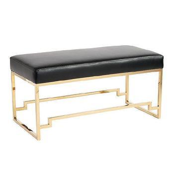 Brass Metal Frame Bench - Products, bookmarks, design, inspiration ...