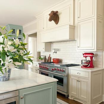Beige Cream Kitchen Cabinets