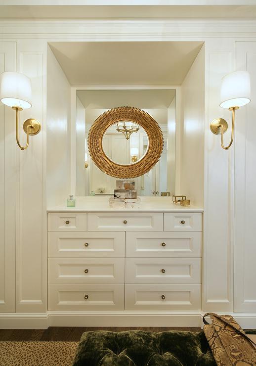 Walk In Gold Mirror On Mirror In Closet