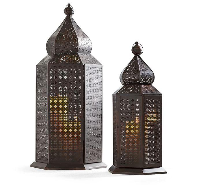 Salma Moroccan Metal Table Lantern