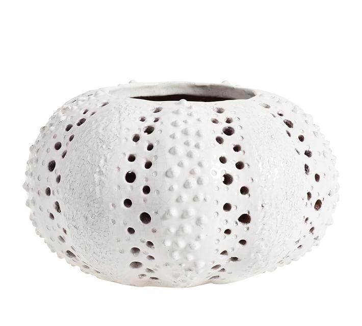 Well known Ceramic Sea Urchin Hurricane Lantern KI94