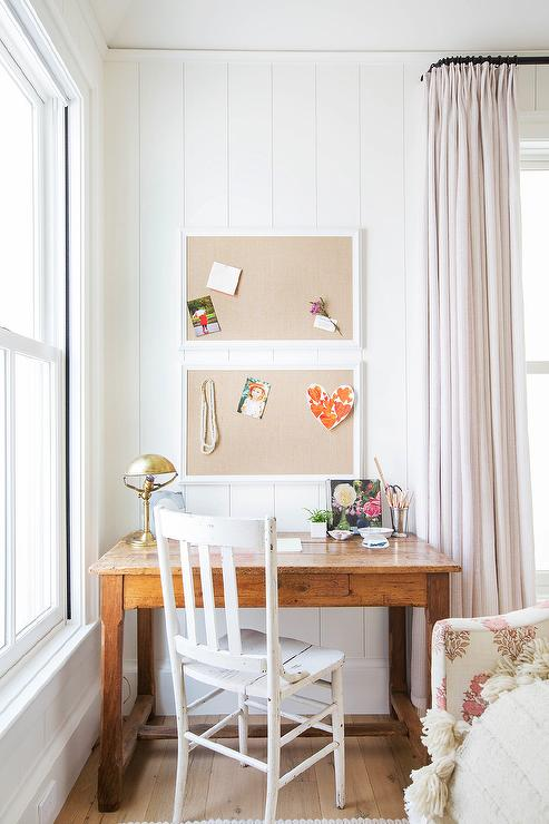 Farmhouse Desk With Rustic Whitewashed Chair Cottage Den Library Office