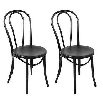 Classic Vienna Bentwood Thonet Style Steel Side Chairs (Set Of 2) View Full  Size. Classic Vienna Bentwood Thonet Style Steel Side Chairs ...