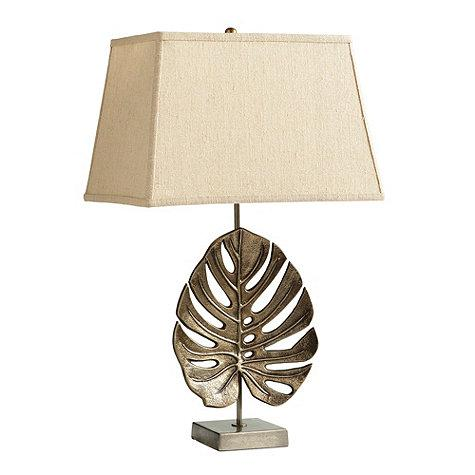 Iron leaf table lamp palencia iron leaf table lamp aloadofball Image collections