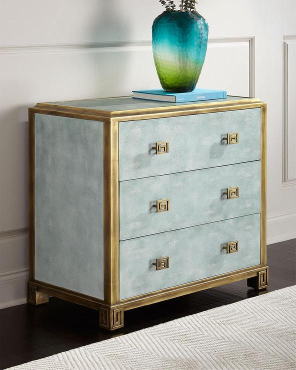 Brass Textured Linear Design Chest