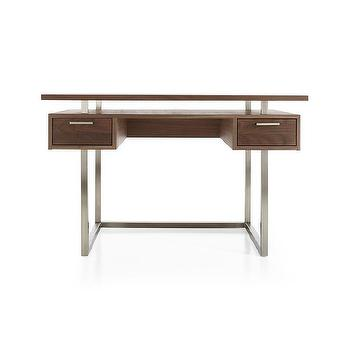 Minimalist Walnut Wood Modern Desk