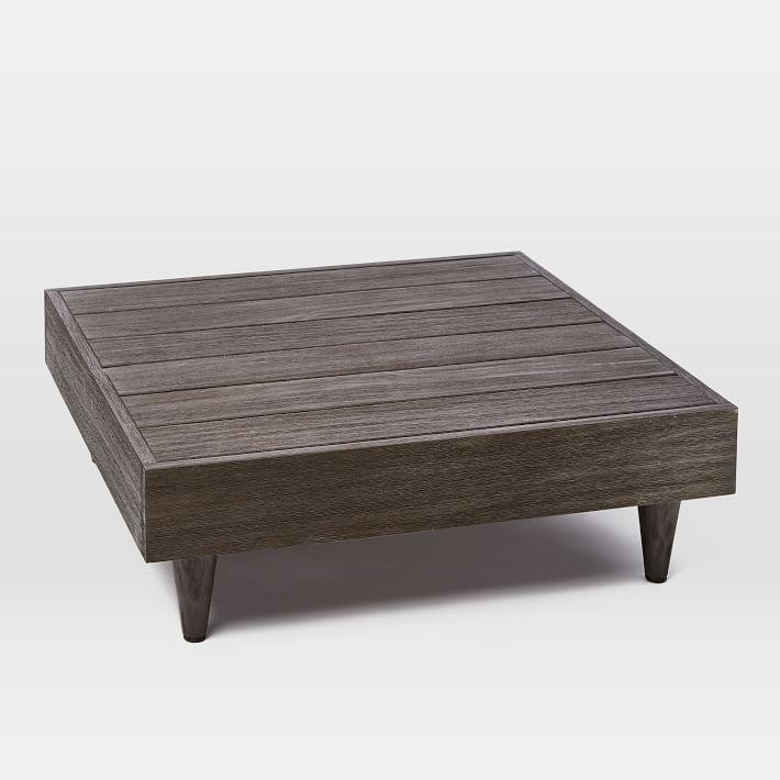 Portside Square Wood Low Coffee Table