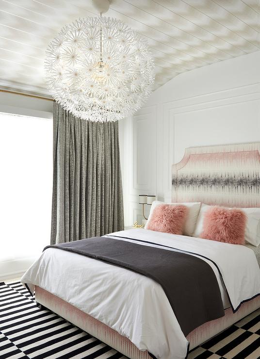 Pink and Black Bedroom Color Scheme - Contemporary - Bedroom