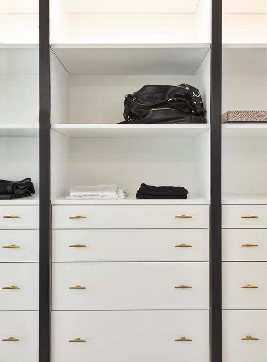 Closet Dresser Drawers With Cup Pulls Transitional Closet