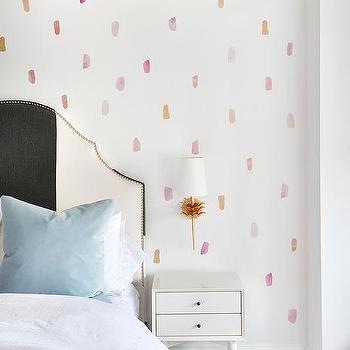 Pastel Colored Girl Bedroom Wallpaper Design Ideas