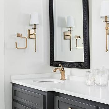 Black And Gold Bathroom Vanity Design Ideas