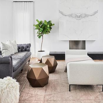 Gray Leather Chesterfield Sofa Design Ideas