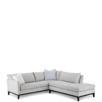 Ivory Flanged Bergen Sectional Sofa