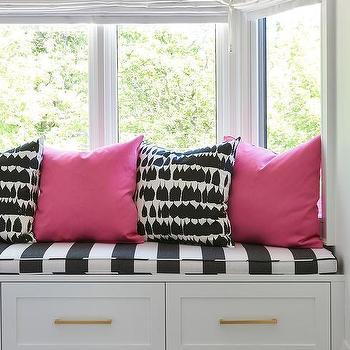 Kid Room Storage Window Seat Design Ideas