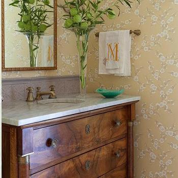 Soft Brass Vintage Cross Handle Faucet Design Ideas