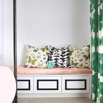 Blush Pink Bedroom Bench Cushion Design Ideas