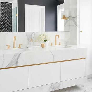 Gold Gooseneck Bathroom Faucets Design Ideas